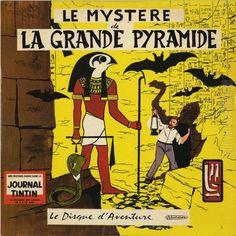 Le mystère de la Grande Pyramide - Le DISQUE D'AVENTURE dessin de EP JACOBS