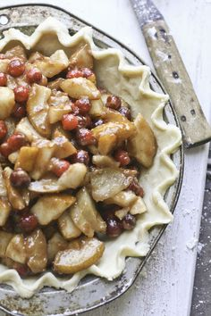 Cranberry Pear Pie - Thanksgiving '12