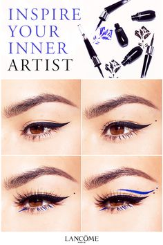 Achieve the perfect cat eye, winged eyeliner, feline flick and even more with Lancôme's Grandiôse bendable liquid eyeliner. The wand bends at a 35-degree angle, and pivots to allow for two stable hand positions while applying. While the wand allows for close access to the lash line, the ultra thin tip of the felt applicator gives the clean look.