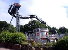 The Oblivion Ride at Alton Towers  Theme Park Staffordshire England