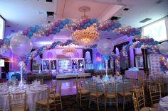 Lavender & Turquoise Bat Mitzvah - Magnificent Party Rooms