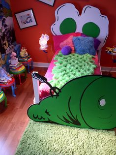 Some really neat Dr. Seuss-style bedrooms for kids