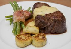 Chateaubriand mit Speckbohnen, Macaire - Kartoffeln und Sauce Béarnaise (Rezept mit Bild) | Chefkoch.de