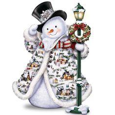 The Bradford Exchange Thomas Kinkade Midwinter Magic Snowman Bradford Exchange http://www.amazon.com/dp/B0056B72T0/ref=cm_sw_r_pi_dp_ekyAwb0G008EJ