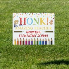 Shop Honk kindergarten Graduate colorful Sign created by DesignbyRedline. Teacher Thank You, Teacher Gifts, Kids Door Signs, Kindergarten Graduation, Teacher Appreciation Week, Appreciation Quotes, Adulting, Gender, Age