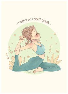 Yoga Cartoon, Yoga Drawing, Yoga Illustration, Yoga Pictures, Yoga Journal, Yoga Art, Yoga Quotes, Yoga Videos, Freelance Illustrator