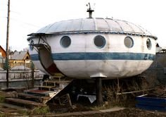 "Space ship house in Blarg, Russia.... Babs.... ""Ours"" on Signal Mtn, TN, is the ""updated"" version of this one...maybe?"