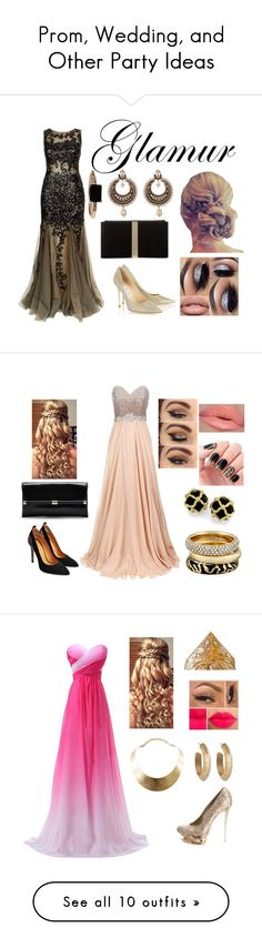 """Prom, Wedding, and Other Party Ideas"" by asiyabarak ❤ liked on Polyvore featuring Jovani, Jimmy Choo, Roger Vivier, Givenchy, LUMO, Diane Von Furstenberg, Michael Kors, GUESS, House of Harlow 1960 and Gianmarco Lorenzi"