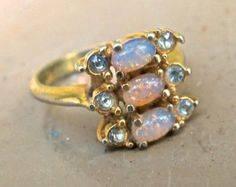 Popular items for vintage opal ring on Etsy