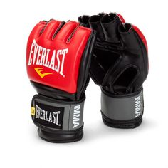 Everlast Pro Style Grappling MMA Gloves - Large/X-Large - Red
