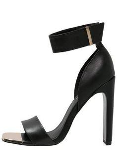 RARE - Korolliset sandaalit - black