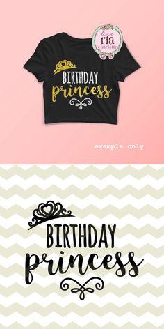 Birthday princess tiara baby girls digital by LoveRiaCharlotte