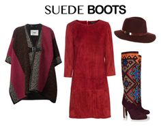 suede boots boho style by diana-kulieva on Polyvore featuring polyvore, fashion, style, Jitrois, Fendi, Brian Atwood and Accessorize