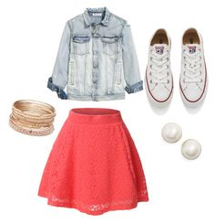 """Untitled #12"" by merijam5 on Polyvore featuring LE3NO, Converse, Kate Spade and Red Camel"
