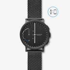 Hagen Connected Steel-Mesh Hybrid Smartwatch   SKAGEN®   Free Shipping