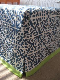 Strictly Simple Style: No-Sew Ottoman Slipcover