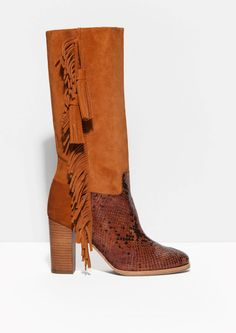 & Other Stories | Fringe And Tassel Suede Boots.