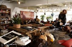 Mitch Alfus' (Libra Leather) office