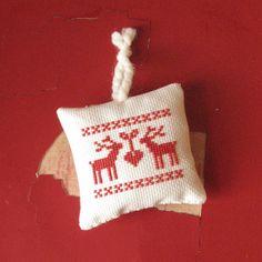 Nordic Cross Stitch Christmas ornament