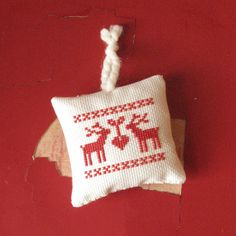 Nordic Cross Stitch Christmas ornament