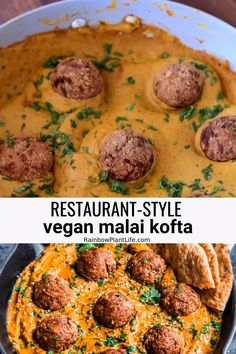 This Restaurant-Style Vegan Malai Kofta is the ultimate Indian comfort food! Crispy dumplings in a creamy, spiced curry, this is the best vegan malai kofta! Includes detailed instructions with both metric and imperial measurements. Kofta Recipe Vegetarian, Vegetarian Recipes, Vegan Meals, Healthy Crockpot Recipes, Meat Recipes, Whole Food Recipes, Vegan Indian Recipes, Ethnic Recipes, Vegan Indian Food