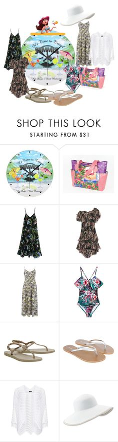 """""""It's time to travel"""" by wickedangel ❤ liked on Polyvore featuring Fleur du Mal, Zimmermann, Warehouse, Seafolly, Havaianas, Accessorize, Manon Baptiste and Eric Javits"""