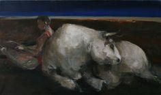 Michał Zaborowski, The kidnapping of Europe, 100x170, oil on canvas.