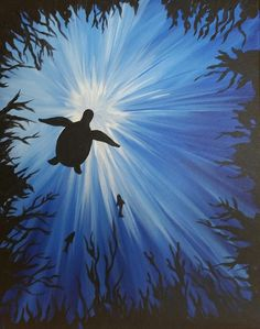 Acrylic step by step turtle painting Acrylic Step by step Turtle Pai . Easy Canvas Art, Simple Canvas Paintings, Easy Canvas Painting, Mini Canvas Art, Kids Canvas, Acrylic Canvas, Underwater Painting, Trippy Painting, Guache