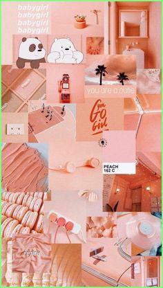 Ideas Aesthetic Wallpaper Pastel Peach For 2019 Peach Wallpaper, Pink Wallpaper Iphone, Iphone Background Wallpaper, Trendy Wallpaper, Pretty Wallpapers, Girl Wallpaper, Vintage Wallpapers, Cartoon Wallpaper, Wallpaper Samsung