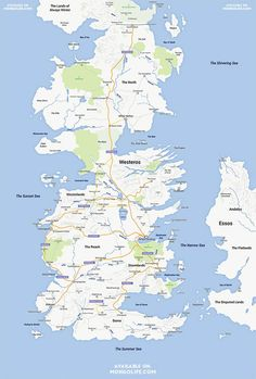 Game of Thrones – Quand le continent de Westeros rencontre Google Maps (image)