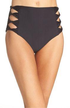 Main Image - BCA Move Along High Waist Bikini Bottoms