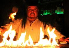Alex, our resident magician, is no stranger to playing with fire. The Magicians, Fire, Gallery, Outdoor Decor, Pictures, Image, Photos, Roof Rack, Drawings