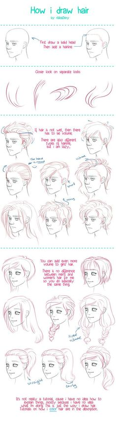 Draw Hair by =ribkaDory on deviantART