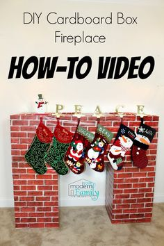 DIY Box Fireplace - Your Modern Family