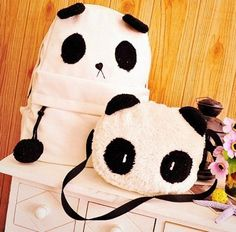 Free Shipping Lovely Panda Bag Students' Backpack (SSNB0046) on Luulla by pearlescent