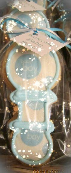 Baby rattle sugar cookie