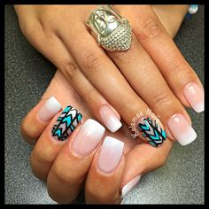 Babyboom nails with Aztek nailart