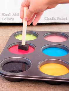 Kool-Aid Colors Sidewalk Chalk Paint