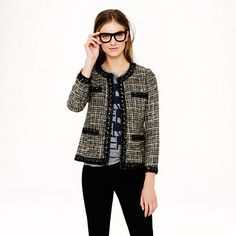 J.Crew - Collection jeweled jacket in pepper tweed  $695  LOVE