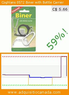Coghlans 0572 Biner with Bottle Carrier (Sports). Drop 59%! Current price C$ 5.66, the previous price was C$ 13.82. http://www.adquisitiocanada.com/coghlans/0572-biner-bottle-carrier