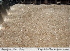 "DIY Make your own smoked sea salt: We do this all the time with our smoker. So far we've used Mesquite, Hickory, Peach, Pecan, Maple, Oak, Alder, Orange, Olive, and Hawaiian Guava Wood to make different ""Flavors""  So easy, and YUM!"