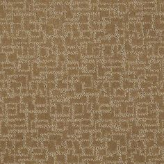 """Carpeting in the HGTV HOME Flooring by Shaw collection, in style """"Final Design"""" - color Aged Umber."""