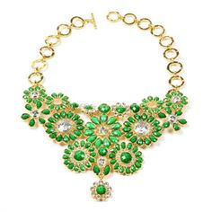 Amrita Singh Crystal Cocoa Bib Necklace