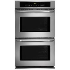 Shop Frigidaire Self-Cleaning Double Electric Wall Oven (Stainless Steel) (Common: 27-in; Actual 27-in) at $1709 @ Lowes.com