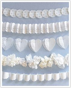 Lots of good ideas with doilies!  You could also make cones for petals from doilies.  So pretty and feminine!