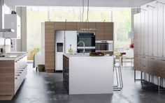 A modern kitchen for nature lovers