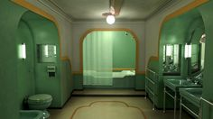 This is a scene inspired by the movie The Shining from Stanley Kubrick. I love that movie and that part of it. The shining Bath Room 237, Interior Styling, Interior Decorating, Interior Design, Camper Decorating, The Shining Bathroom, Stanley Kubrick The Shining, Color In Film, Retro