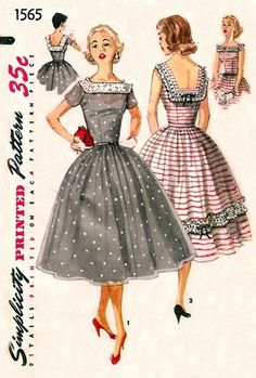 Womens Rockabilly One Piece Dress Square Neckline Low .- Womens Rockabilly One Piece Dress Square Neckline Low Back Simplicity Sewing Pattern 1465 Size 16 Bust 34 Vintage Sewing Patterns Womens Rockabilly One Piece Dress Square Neckline Low - 1950s Dress Patterns, Dress Sewing Patterns, Vintage Sewing Patterns, Clothing Patterns, Pattern Dress, Skirt Patterns, Coat Patterns, Blouse Patterns, Moda Vintage