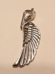 Half Wing clip on shoe pendant