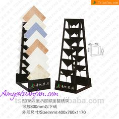 Ceramics Tiled Show On Display Wall And Stand Rack